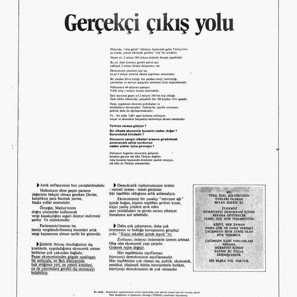 ARAŞTIRMA : 1973 – 1980 dönemi ve TÜSİAD